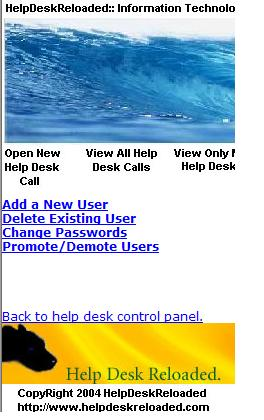 Help Desk User Manager